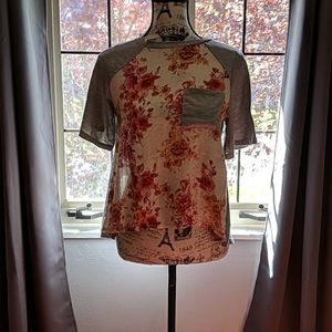 Altar'd State Floral High Low Tee